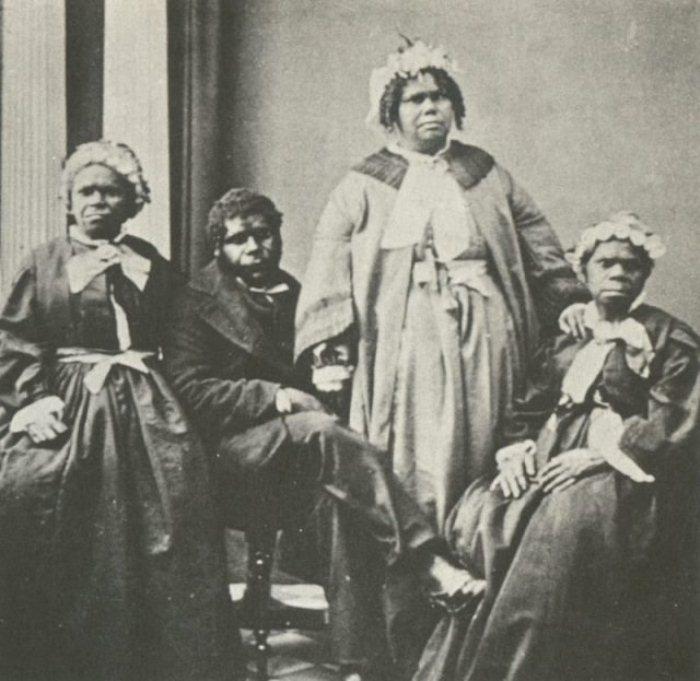 Труганини и четыре последних аборигена Тасмании.