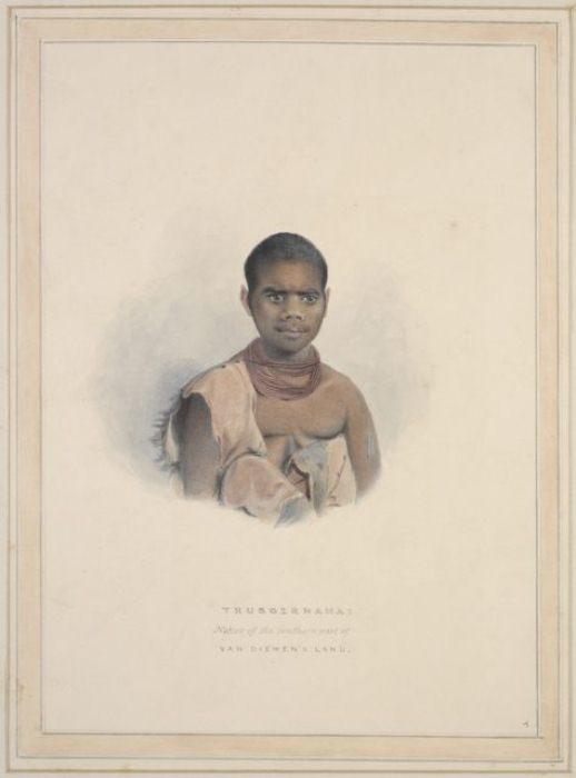 Труганини. Портрет Томаса Бока. 1831 г.
