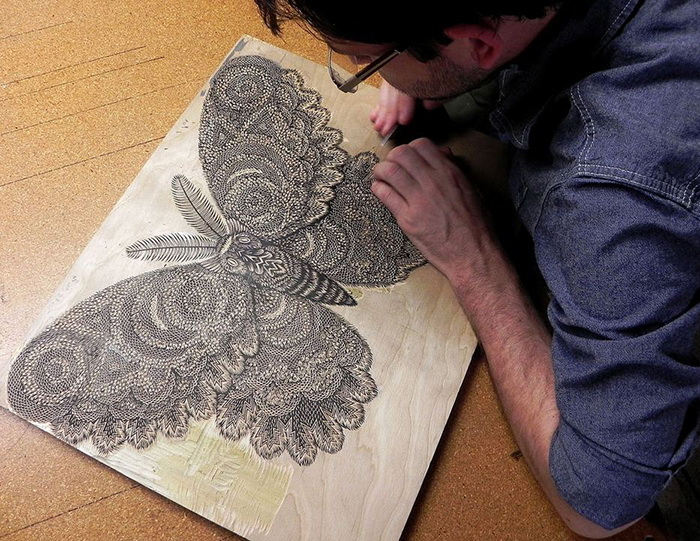 Современная ксилография от арт-студии Tugboat Printshop