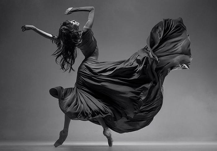 Балерина на фотографии Вадима Штейна.