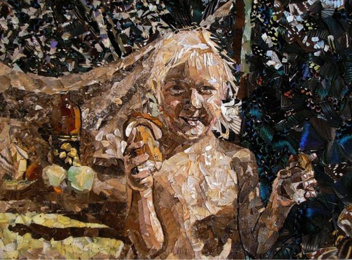 Картины из крыльев бабочек российского художника Вадима Зарицкого