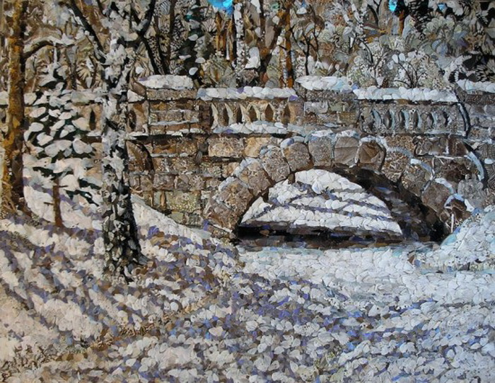 Крылья бабочек под цвет выпавшего снега. Необычные картины Вадима Зарицкого