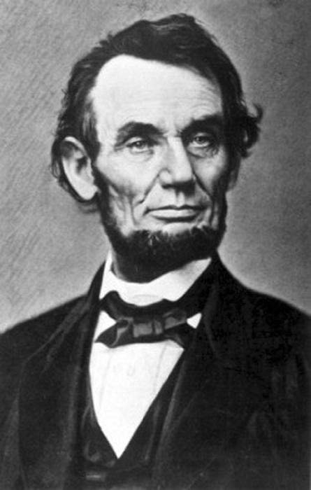 Портрет Авраама Линкольна.