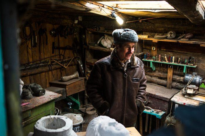 Валерий Ермаков - скульптор-самоучка из Полтавской области.