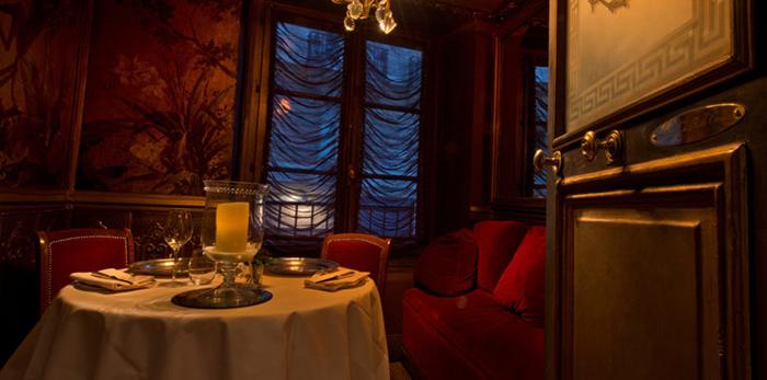 Приватная комната в ресторане Ляперуз.