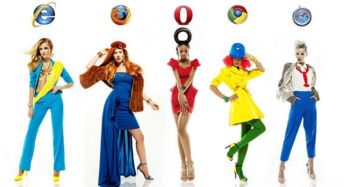 Наряды в стиле Интренет-браузеров. Дизайнер Виктория Пашута