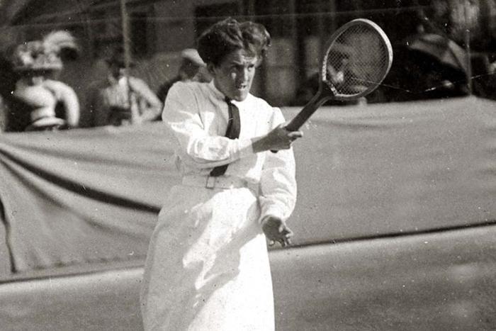 Доротея Ламберт-Чамберс на Уимблдоне.