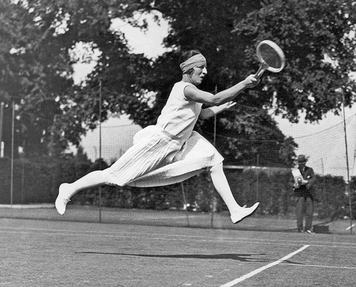 Ленглен на Уимблдоне, 1926 год.