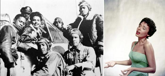 Лина Хорн и пилоты из Таскиги