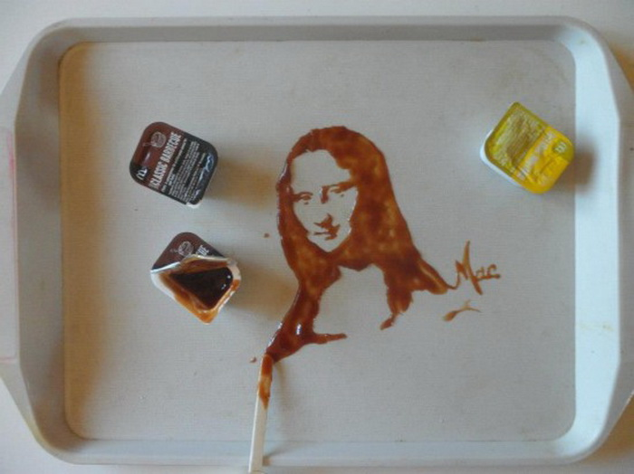 Мона Лиза из соуса для барбекю от Vivi Mac