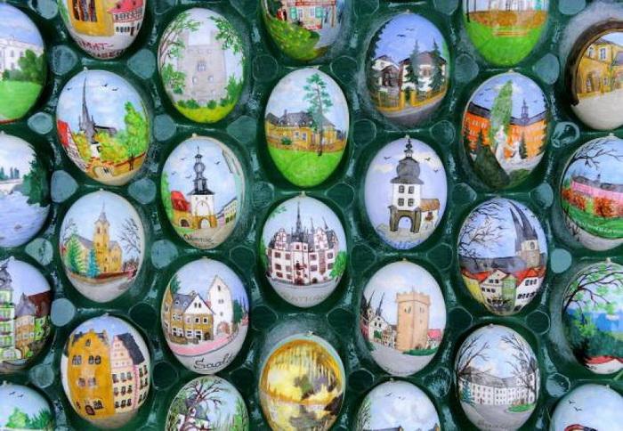 Яйца, разрисованные Габриелой Рюмрих