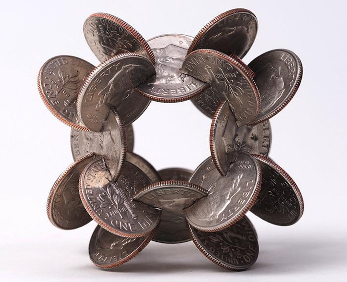 Скульптуры из монет от Роберта Векслера (Robert Wechsler)