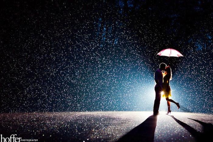 Свадебные фотографии под дождем и снегом. Фотография Hoffer Photography