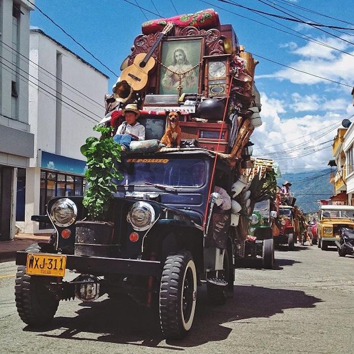 Груженые джипы Виллис, Армения, Колумбия