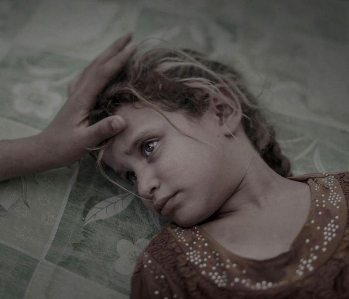 Пятилетний ребенок в лагере для беженцев