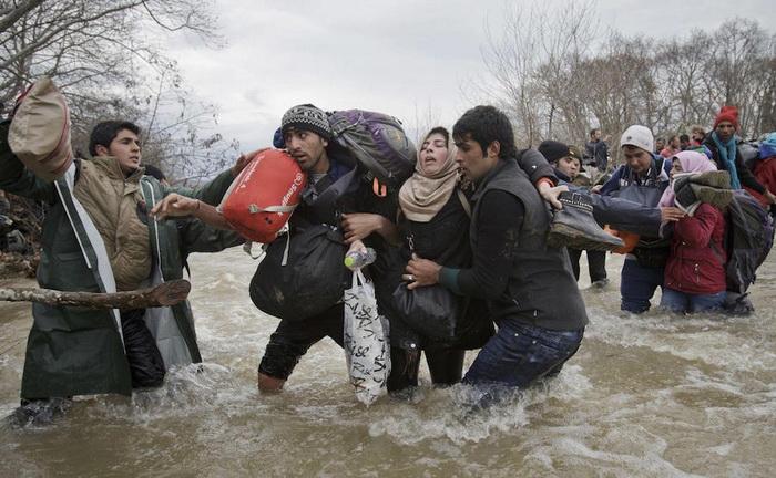 Мигранты на пути в Македонию