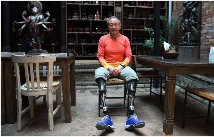 Ся Бойю - безногий альпинист, который всю жизнь шел к своей мечте.