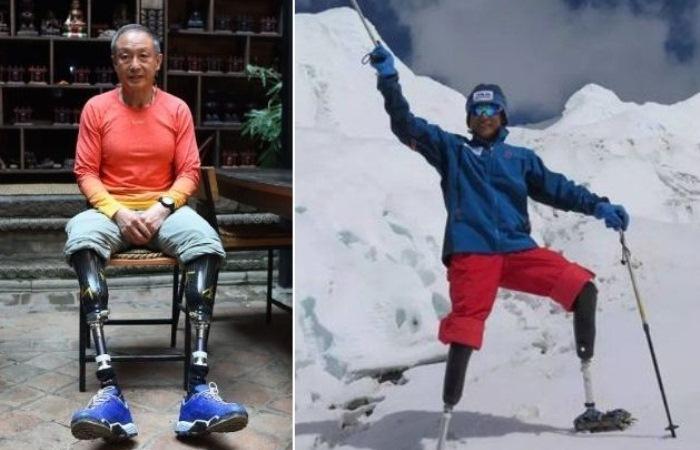 Ся Бойю - безногий альпинист, покоривший Эверест.