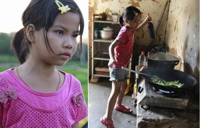 10-летняя девочка воспитывает братьев самостоятельно