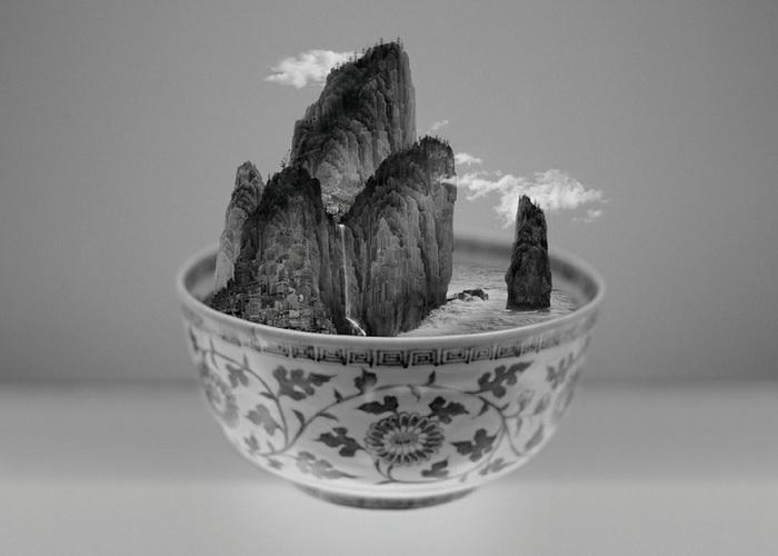 *Пиала Тайбэя* - необычный проект художника Yang Yongliang