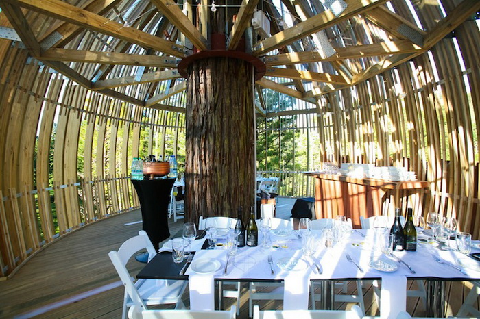 Ресторан Yellow Treehouse рассчитан на 18 посетителей