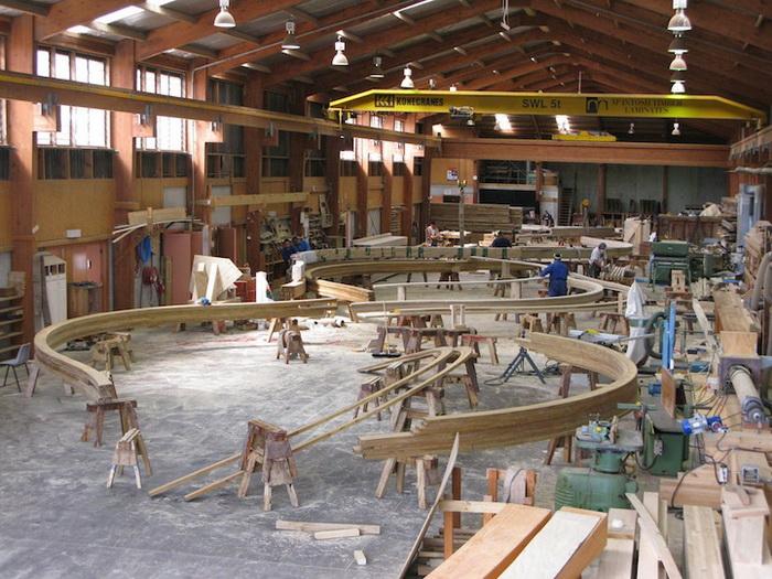 Процесс строительства ресторана