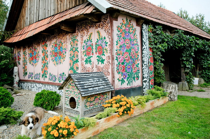 Залипье - деревня с расписными домами (Польша)