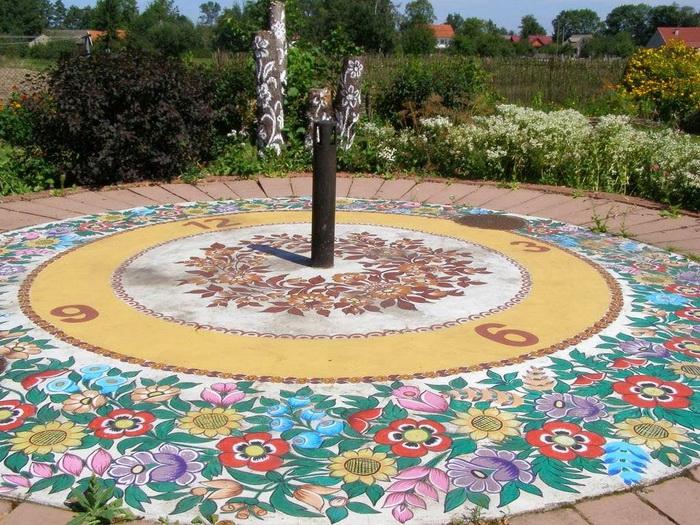 Декорированные солнечные часы