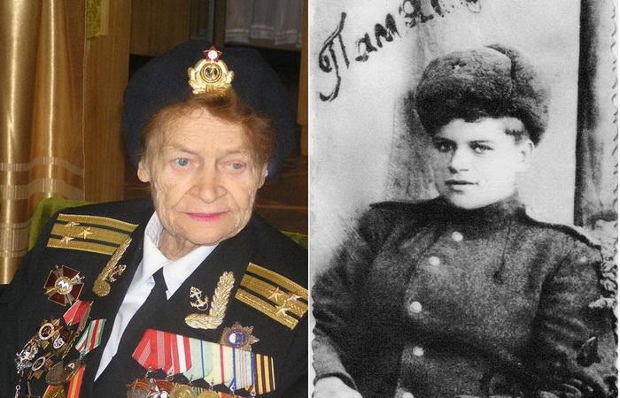Евдокия Завалий - единственная женщина-командир взвода морской пехоты в годы ВОВ.