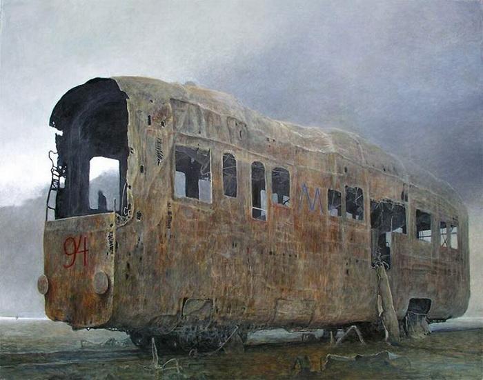 Пустота и постапокалиптические сцены на полотнах Здзислава Бексиньского