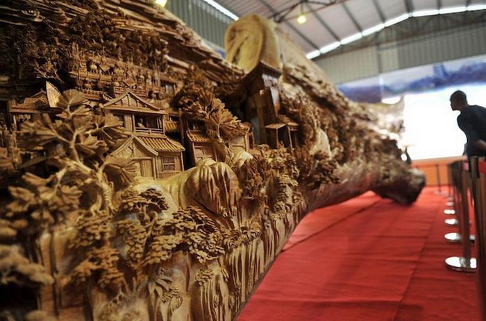 Деревянная скульптура от Zheng Chunhui попала в Книгу рекордов Гиннесса