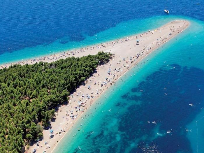 пляж золотой рог в хорватии фото речной круиз