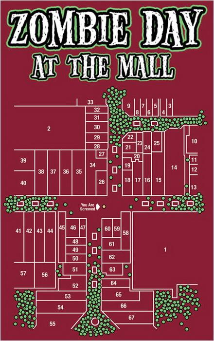 Зомби в британском торговом центре (Zombie Shopping Mall)