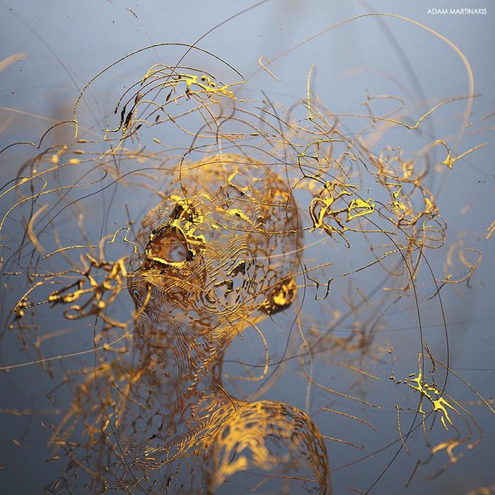 Золотой мальчик: цифровая скульптура от Адама Мартинакиса (Adam Martinakis)
