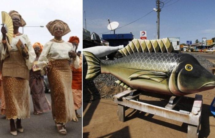 Как проходят похороны в Африке.
