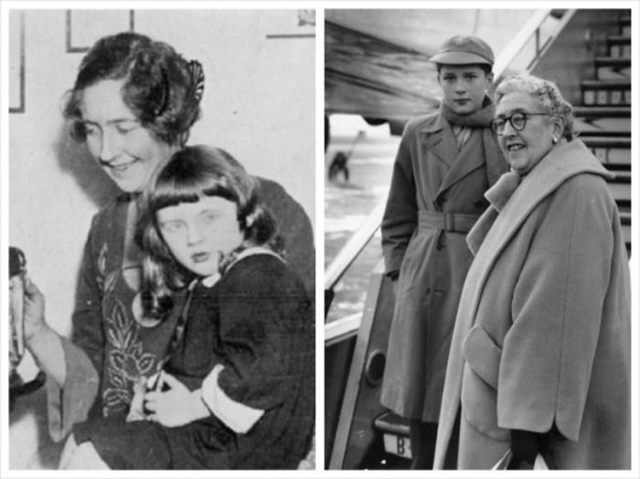 Агата Кристи с дочерью Розалиндой и со своим внуком Мэтью Причардом