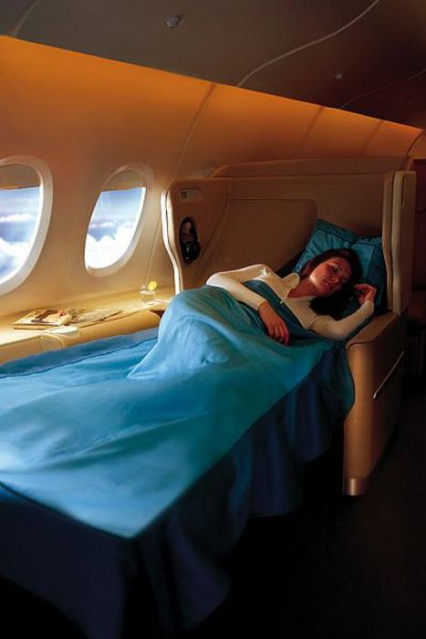 На борту А 380 пассажиры чувствуют себя, как дома