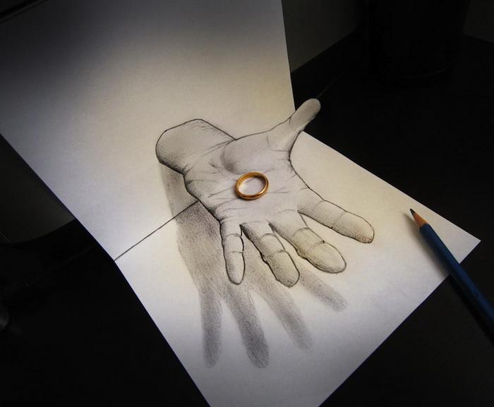 Как сделать тень простым карандашом