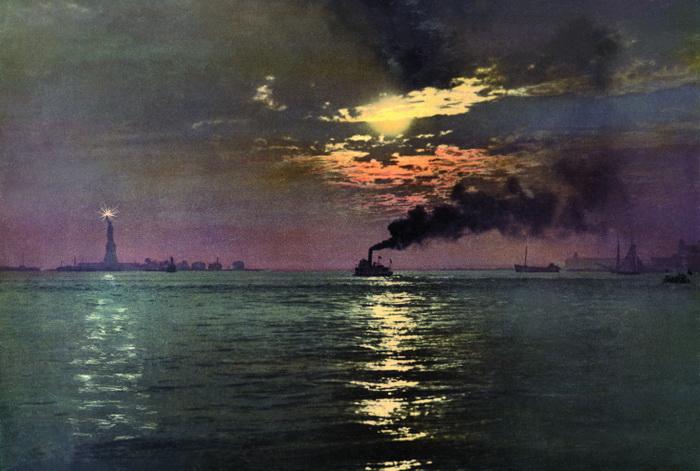 *Американская Одиссея*. Закат в Бээтери (Нью-Йорк)