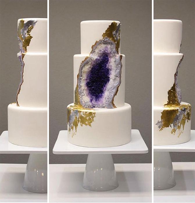 Оригинальный аметистовый торт от Rachel Teufel