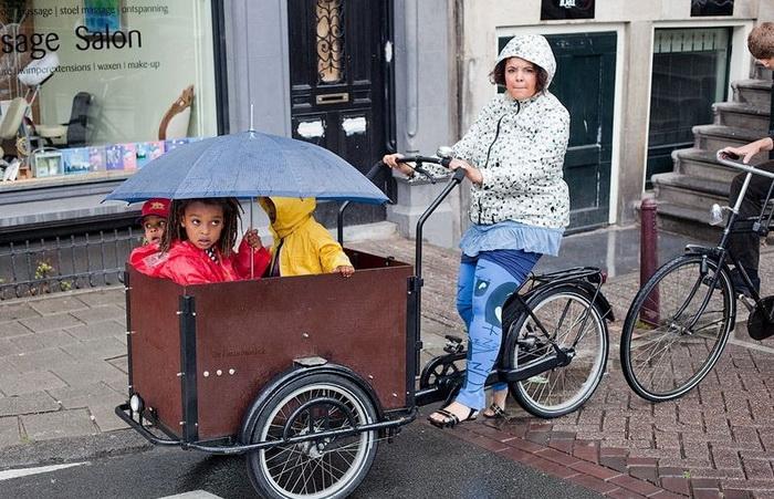 Разнообразие велосипедов на улицах Амстердама