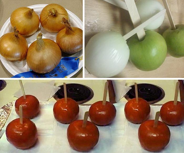 Карамелизированный лук вместо яблок