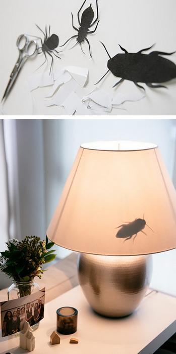 Жуки, ползающие по лампе. Розыгрыш не для слабонервных!
