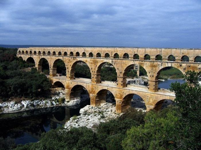 Акведук Pont du Gard(Франция)