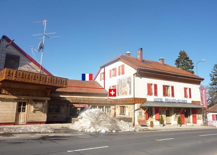Швейцарский вид на необычный отель *Арбез*