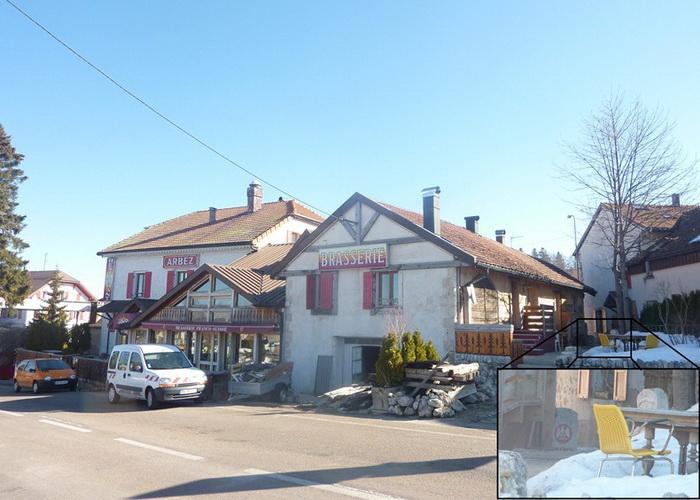 Французский вид на *пограничный* отель *Арбез*