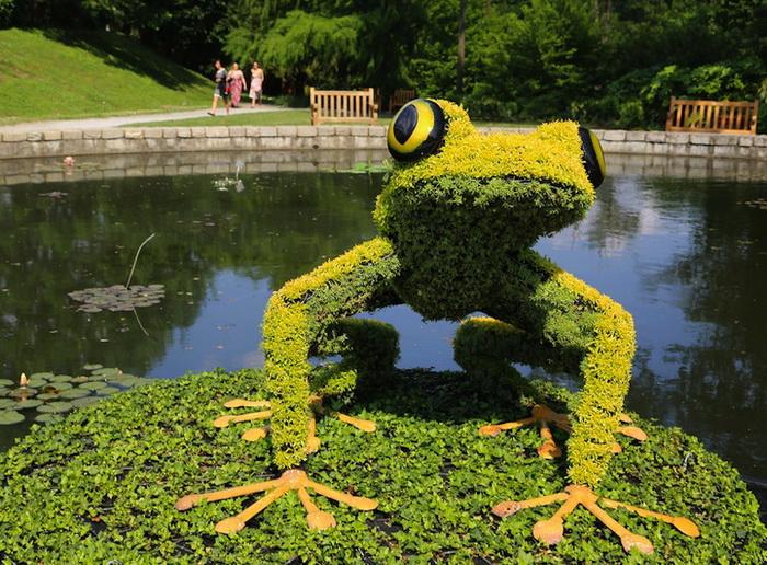 Выставка цветочных скульптур в Ботаническом саду в Атланте