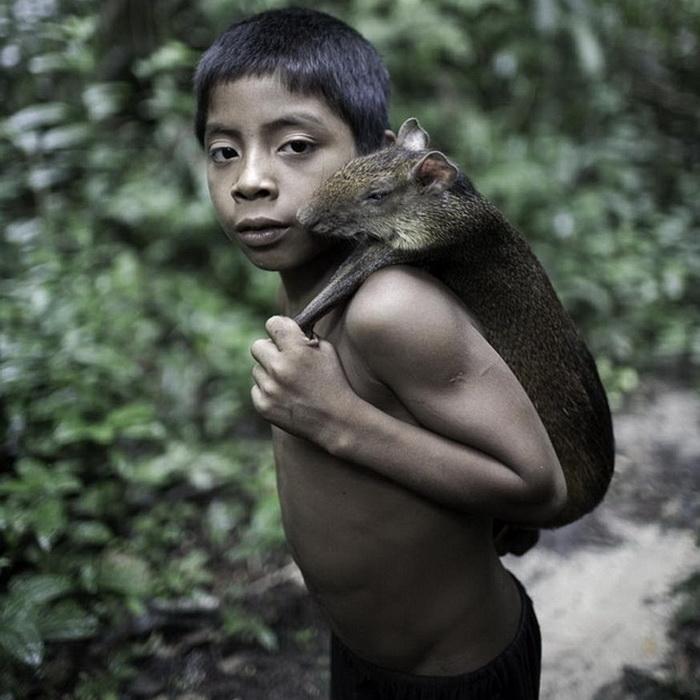 Исчезающее племя ава живет в гармонии с природой