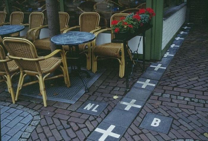 Поселок Барле на границе Бельгии и Нидерландов