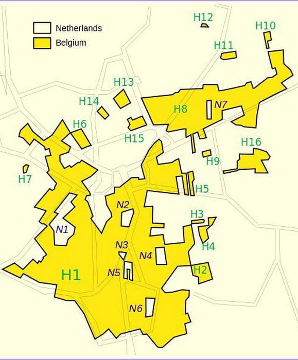 Схема территориального деления поселка Барле